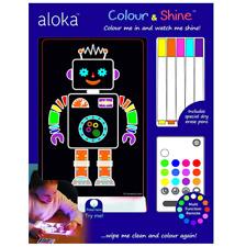 Brand new Aloka colour and shine robot multi coloured night light & remote