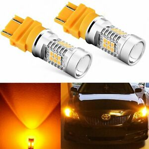 JDM ASTAR 2x 1200Lm 3157 3156 Amber Yellow 21SMD Turn Signal Lights LED Bulbs
