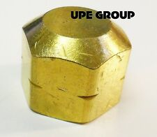 BRASS END CAP 3/8 FEMALE NPT PIPE FITTING AIR FUEL WATER