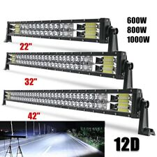 "Dual-ROW 22''/32''/42''/52"" 12D LED WORK LIGHT BAR SPOT FLOOD COMBO OFFROAD LAMP"