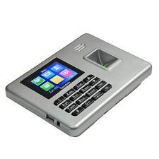 "A3 2.8"" TFT Biometric Fingerprint Time Attendance Machine Software-free Silver"