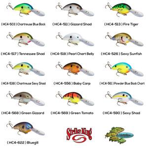 Strike King Crankbait HC4 Pro Model Pick Any Color Rattling Fishing Lure