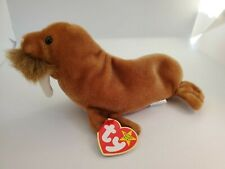 Ty Beanie Baby 1999 Paul Walrus Toy Original Retired With Tags No Plastic Cover