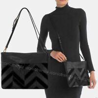 NWT 🌹 The Sak Tomboy Leather Crossbody Shoulder Handbag Black Patchwork