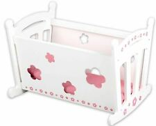 NEW WOODEN BABY DOLLS DOLL CRADLE TOY PLAY SET BUBBADOO