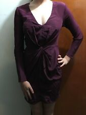 ZIMMERMAN WINE COLOURED SILK  DRESS SZ 0 FREE POST (F25) WOMENS