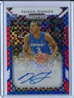 2019-20 Panini Prizm Draft Keldon Johnson Auto Red White Blue /99 Rookie RC