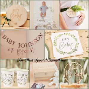 Baby Shower Party Decorations Luxury Botanical Baby 'Hey Baby' Range (BAB)