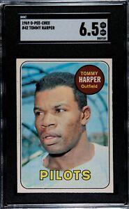 1969 O-Pee-Chee Baseball #42 TOMMY HARPER, Seattle Pilots, SGC 6.5 EX/NM+