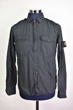 Men's Stone Island Military Double Pocket Black Overshirt/Shirt Medium