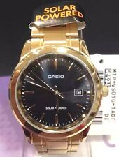 Casio Analog Solar Powered Gold Tone Stainless Steel Men's Watch MTP-VS01G-1A