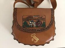 BORSA IN VERA PELLE SICILIA MADE IN ITALY PS01 LEATHER BAG BEIGE SOUVENIR