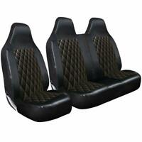 Volkswagen T25 & Caravelle- LUXURY QUILTED DIAMOND LEATHER VAN SEAT COVERS - 2+1