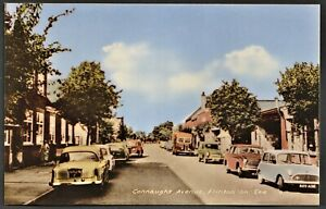 FRINTON ON SEA postcard Connaught Avenue with 1950/1960 era vehicles