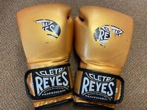 Cleto Reyes GOLD leather 14oz Sparring Gloves