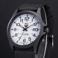 NEW Men's Date Canvas Sport Watch Analog Quartz Fashion Army Wrist Watches