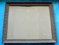Ancien Cadre bois sculpter vintage graver 40 x 48 x 3 cm Art Deco