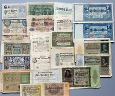 GERMANY LOT NEAR 100 BANKNOTES 1904 - 1923 RARE CIRCULATED NO RESERVE