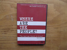 Where Are the People? the American Church in Crisis (Rare DVD, 2008) David Olson