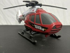 Tonka 2013 Red & White Rescue Force Fire Helicopter 5647 Hasbro Lights & Sound