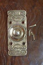 Edwardian style brass front doorbell push button bell pusher door bell Z2