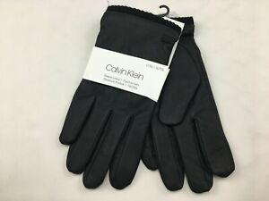 Calvin Klein Men's L/XL Black Touchscreen Fleece Lined Dress Gloves NWT $55