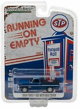 1:64 GreenLight *RUNNING ON EMPTY R2* STP = Blue 1969 Ford F-100 Pickup NIP