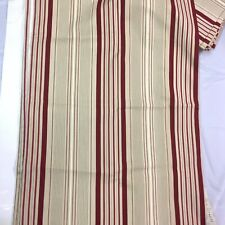 1 Pair STRIPED  Fully Lined Curtains 80X82  Beige Red S. LICHTENBERG & CO., INC.