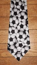 Aesop Tie Polyester Black White Novelty Soccer Ball NIB t4526