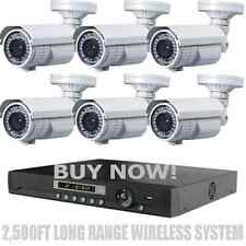Long Range Wireless 2,500Ft Night Vision 1200Tvl Waterproof Security Cameras