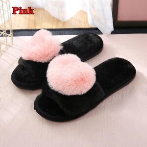 Warm Slippers Women Soft Sandals Flip Flops Sliders Fur Flat Shoes Winter Hot