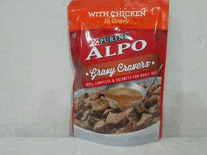 72 packets of Alpo Gravy Cravers w chicken adult dog food 3.5oz per pk exp3/22