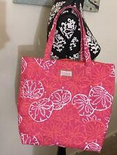 BEACH TOTE Sand Dollar LILLY PULITZER BAG Estee Lauder Pink Orange Coral White
