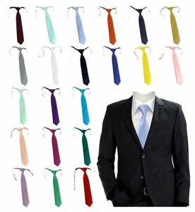 TigerTie Designer Security Sicherheits Krawatte in einfarbig Uni mit Gummizug