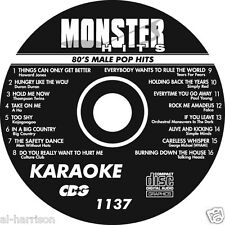 KARAOKE MONSTER HITS CD+G 80's MALE POP HITS  #1137