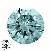 BJC® Loose Round Brilliant Cut Natural Aquamarine Stones AAA Grade Multiple Size
