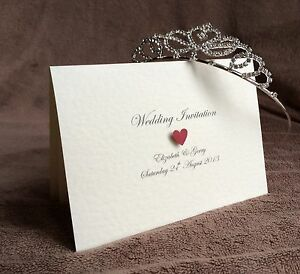 Personalised Day/Evening Handmade Wedding Invitations. Sample Available Victoria