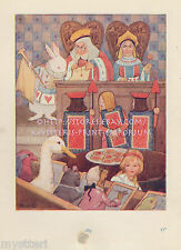 Red Queen-Tarts-Rabbit-Alice In Wonderland-1920 VINTAGE PRINT-Book Plate-Picture