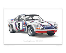 Porsche 911 RSR Martini - Limited Edition Classic Car Print poster by Steve Dunn