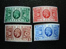 ROYAUME-UNI - timbre yvert/tellier n° 201 a 204 n** (A8)stamp united kingdom(Z