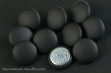 10 Upholstery buttons Black Real Scottish leather 25mm
