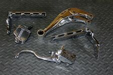 5 piece POLISHED Yamaha Banshee dress up kit FOOTPEGS + THUMB THROTTLE + DOGBONE