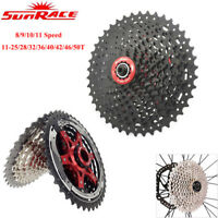Sunrace 8/9/10/11 Speed Cassette MTB Road Bike Wide Ratio Shimano SRAM Freewheel