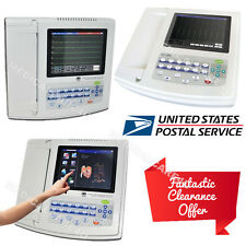 CE 12 Channel ECG EKG Machine 12 Leads electrocardiograph 8'' TFT Color LCD, USA