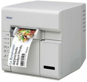 White Epson Catalina TM-C600 Inkjet Ticket Printer Epsonnet Wifi
