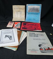 box lot 22 farm related paper goods / various implement manuals / date from 1900