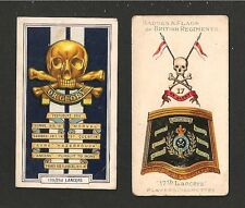 17th LANCERS Flag & Badge Death or Glory Boys HORSE MARINES 1903 original cards