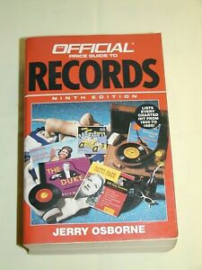 Vintage Official Price Guide to Records 9th Ed by Jerry Osborne 1990 970pgs 5¼x8