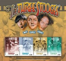 Tuvalu - The Three Stooges Sheet Of 4 Stamps