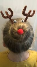 Rudolph The Red Nose Reindeer Hair Bun Kit Christmas Hair Accessories